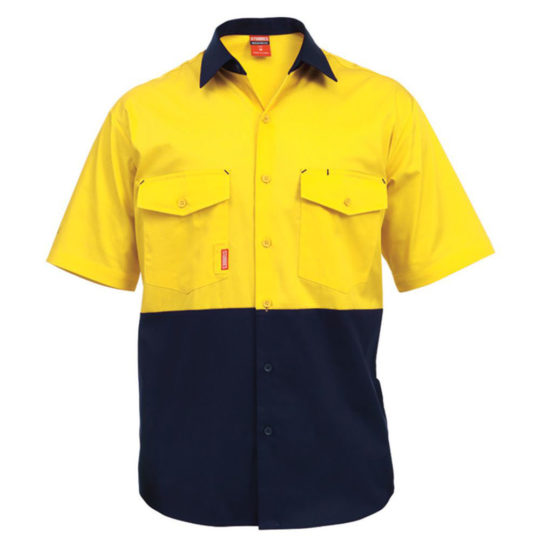 Stubbies Short Sleeved Drill Shirt Cooling Vents