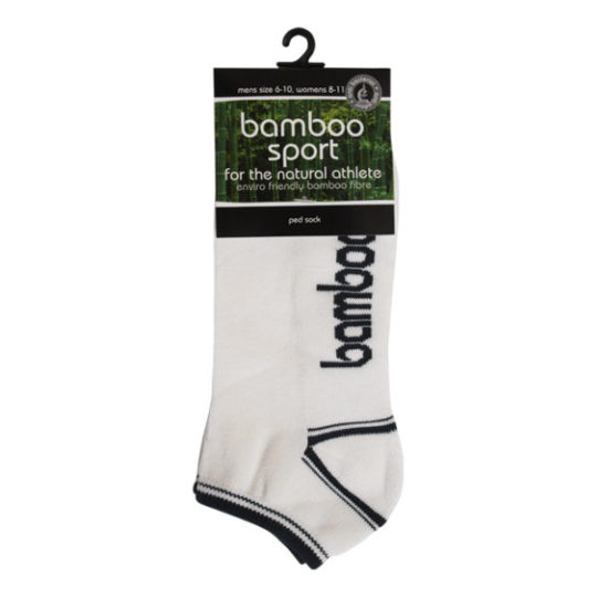 Bamboo short ped sports sock
