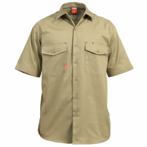Stubbies S/S Drill Shirt with Cooling Vents
